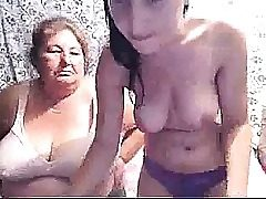Chesty Teenager & Grandma On Webcam