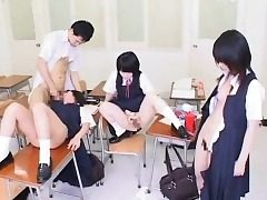 Hypnotized Japanese College girls Get Cum!