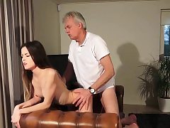 Old and Youthfull Pornography - Baby sitter pussy fucked by old fellow