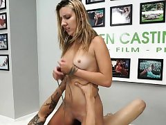 Brutal casting audition for sumptuous teenager