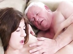 Hard-core old young sex with muddy grandpa