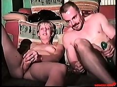 Dad and daughter-in-law crack each others holes! VINTAGE