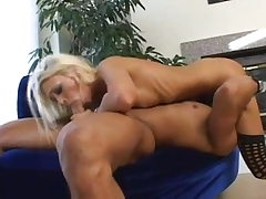 Lean Light-haired Teen gives a nice Blow-job and have good sex