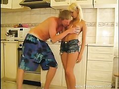 Obscene hookup in kitchen