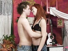 Hottest fucky-fucky with redhead teeny