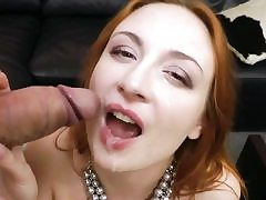 Beautiful redhead stunner in hardcore cumpilation