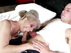 Passionate milf stunner gets her sweet holes stuffed in various poses
